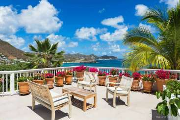 Patio at Villa WV LUZ (Lilas) at Camaruche, St. Barthelemy, Family-Friendly, Pool, 4 Bedroom, 4 Bathroom, WiFi, WIMCO Villas