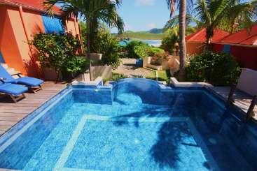 Villa Pool at Villa WV LZP (LEZARD PALACE) at Anse des Cayes, St. Barthelemy, Family-Friendly, Pool, 2 Bedroom, 2 Bathroom, WiFi, WIMCO Villas