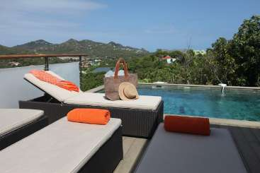 The view from Villa WV MBL (Villa Anakao) at St. Jean, St. Barthelemy, Family-Friendly, Pool, 2 Bedroom, 2 Bathroom, WiFi, WIMCO Villas