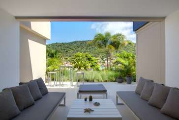 The view from Villa WV MIL (Camille) at Gustavia, St. Barthelemy, No Pool, 1 Bedroom, 1 Bathroom, WiFi, WIMCO Villas