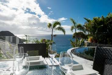 Terrace at Villa WV NAO (Gouverneur Jewel) at Gouverneur, St. Barthelemy, Pool, 1 Bedroom, 1 Bathroom, WiFi, WIMCO Villas