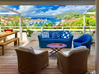 Deck at Villa WV SET (View Star) at Gustavia, St. Barthelemy, Pool, 1 Bedroom, 1 Bathroom, WiFi, WIMCO Villas