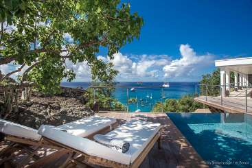 The view from Villa WV SHE (Sheherazade) at Corossol, St. Barthelemy, Family-Friendly, Pool, 1 Bedroom, 1 Bathroom, WiFi, WIMCO Villas