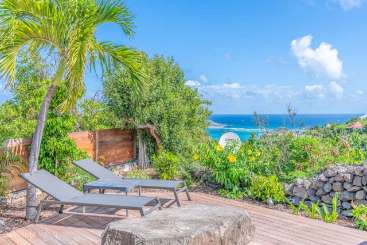 Deck at Villa WV STC (Telemaque) at Camaruche, St. Barthelemy, Pool, 2 Bedroom, 2 Bathroom, WiFi, WIMCO Villas
