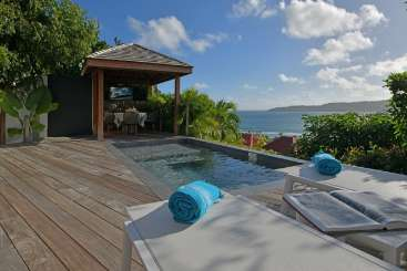 Villa Pool at Villa WV STT (Silhouette) at Anse des Cayes, St. Barthelemy, Pool, 1 Bedroom, 1 Bathroom, WiFi, WIMCO Villas
