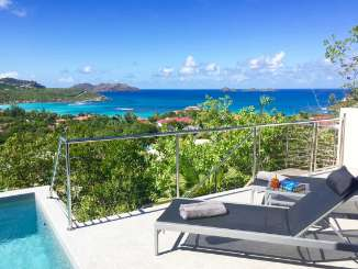 Patio at Villa WV SUA (Suite Acajous) at St. Jean, St. Barthelemy, Family-Friendly, Pool, 1 Bedroom, 1.5 Bathroom, WiFi, WIMCO Villas