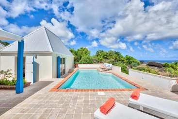 Villa Pool at Villa WV VEL at Camaruche, St. Barthelemy, Family-Friendly, Pool, 2 Bedroom, 2 Bathroom, WiFi, WIMCO Villas