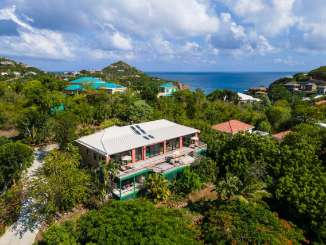Aerial photo of Villa CT ADA (Adagio) at Great Cruz Bay, St. John, Pool, 3 Bedroom, 3 Bathroom, WiFi, WIMCO Villas, Available for the Holidays