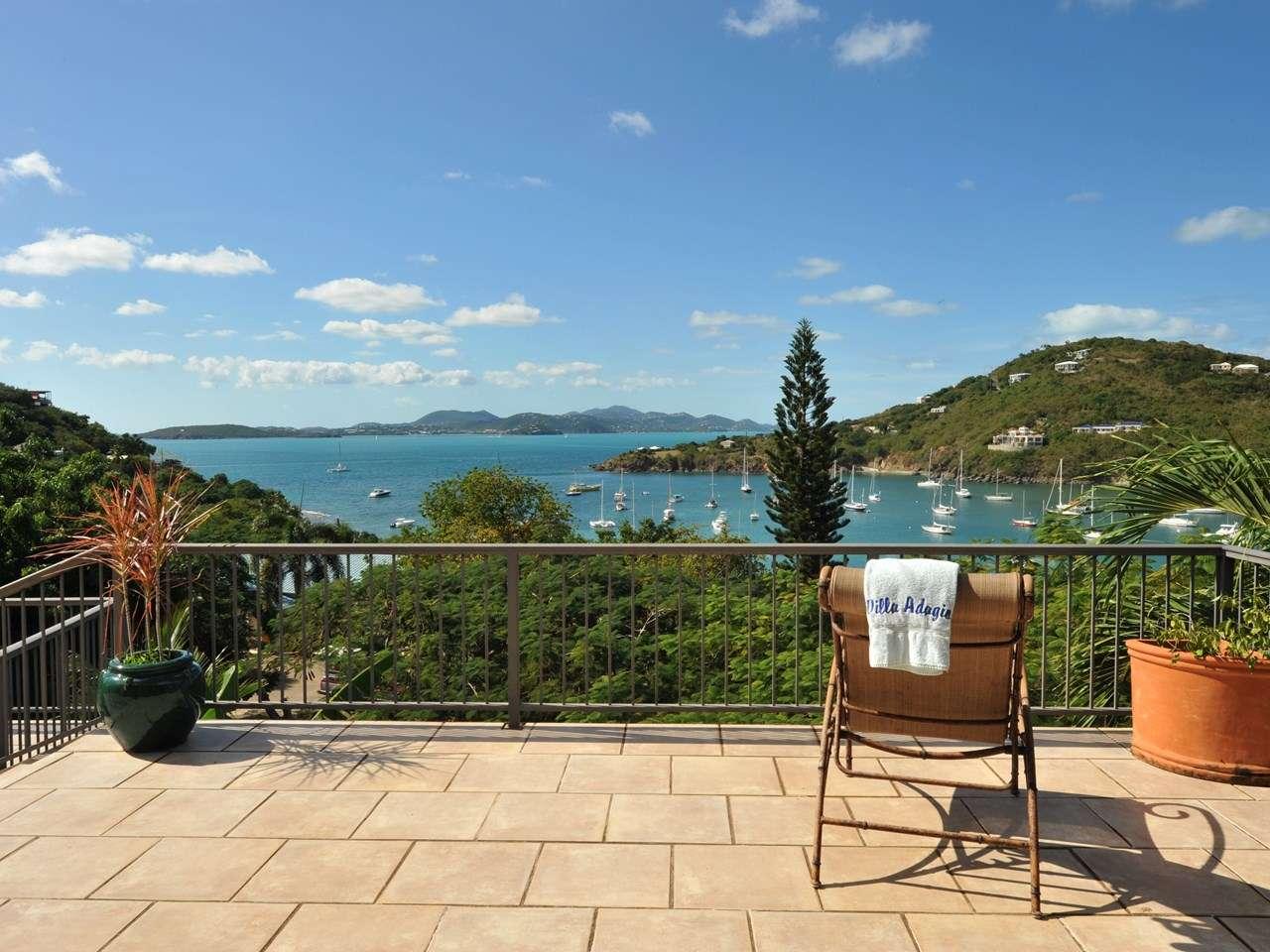 The view from Villa CT ADA (Adagio) at Great Cruz Bay, St. John, Pool, 3 Bedroom, 3 Bathroom, WiFi, WIMCO Villas