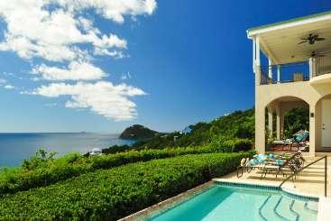 The view from Villa CT ANA (Ami La Vita) at Rendezvous Bay, St. John, Family-Friendly, Pool, 4 Bedroom, 3.5 Bathroom, WiFi, WIMCO Villas