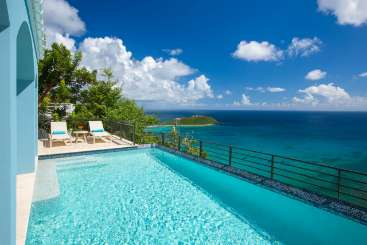 Villa Pool at Villa CT BBL (Ballena Blue) at Rendezvous Bay, St. John, Family-Friendly, Pool, 3 Bedroom, 3 Bathroom, WiFi, WIMCO Villas, Available for the Holidays