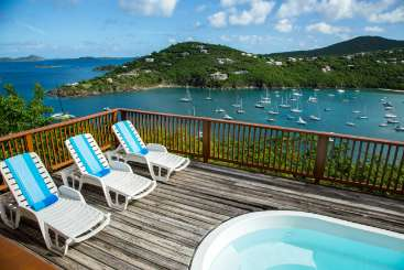 The view from Villa CT BLU (Blue Tang) at Great Cruz Bay, St. John, Family-Friendly, Pool, 2 Bedroom, 2 Bathroom, WiFi, WIMCO Villas, Available for the Holidays