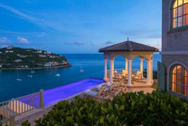 The view from Villa CT EAU (EauSea) at Great Cruz Bay, St. John, Family-Friendly, Pool, 4 Bedroom, 5.5 Bathroom, WiFi, WIMCO Villas