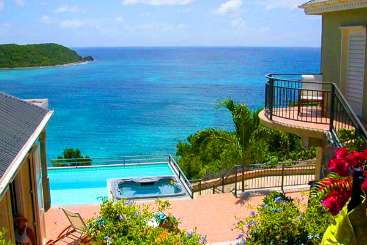 The view from Villa CT LAT (Latitude) at Rendezvous Bay, St. John, Pool, 3 Bedroom, 3.5 Bathroom, WiFi, WIMCO Villas