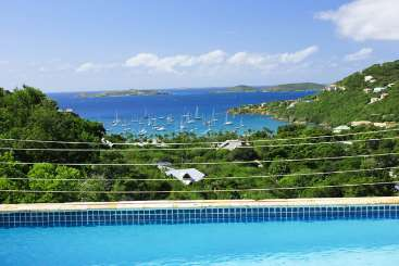 The view from Villa CT SGR (Seagrass) at Rendezvous Bay, St. John, Family-Friendly, Pool, 4 Bedroom, 4.5 Bathroom, WiFi, WIMCO Villas