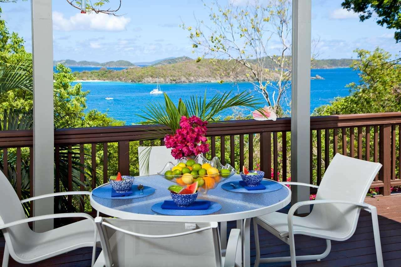 Terrace at Villa CT TER (Terrahawk) at North Shore, St. John, Family-Friendly, No Pool, 2 Bedroom, 2 Bathroom, WiFi, WIMCO Villas