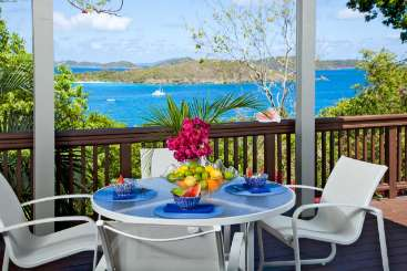 Terrace at Villa CT TER (Terrahawk) at North Shore, St. John, Family-Friendly, No Pool, 2 Bedroom, 2 Bathroom, WiFi, WIMCO Villas