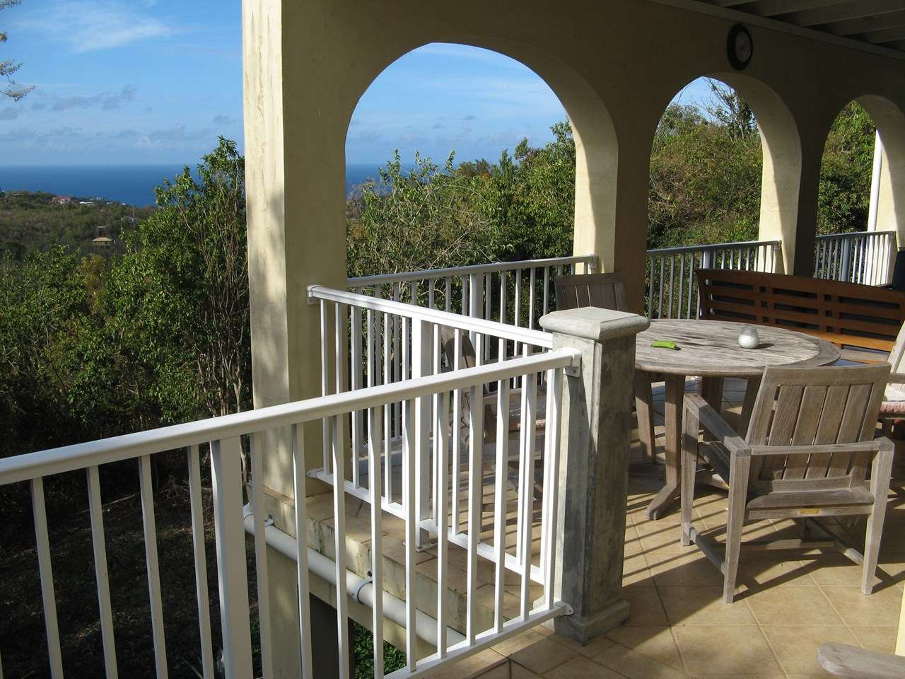 Terrace at Villa CT TRA (Caneel Trailside Cottage) at Catherineberg, St. John, Family-Friendly, Pool, 2 Bedroom, 2 Bathroom, WiFi, WIMCO Villas