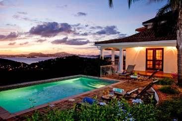 Villa Pool at Villa CT VIS (Vista Caribe) at Gifft Hill, St. John, Family-Friendly, Pool, 4 Bedroom, 4.5 Bathroom, WiFi, WIMCO Villas