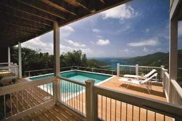Villa Pool at Villa MAS GRE (Great Turtle) at East/Coral Bay, St. John, Family-Friendly, Pool, 4 Bedroom, 4.5 Bathroom, WiFi, WIMCO Villas