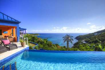 The view from Villa MAS MBL (Mare Blu) at Rendezvous Bay, St. John, Family-Friendly, Pool, 6 Bedroom, 8 Bathroom, WiFi, WIMCO Villas
