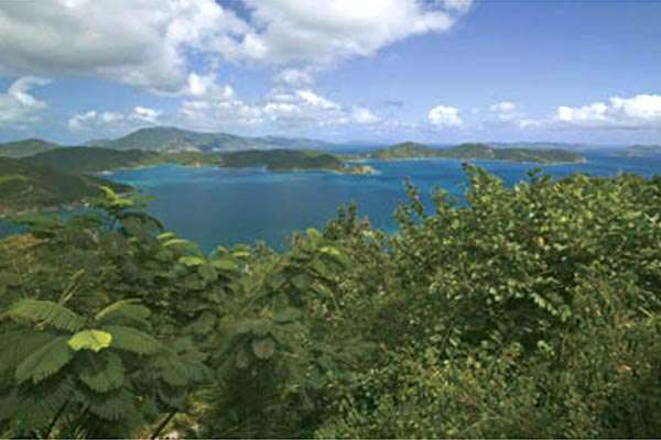 The view from Villa MAS MOO (Moon Cottage) at East/Coral Bay, St. John, Family-Friendly, Pool, 1 Bedroom, 2 Bathroom, WiFi, WIMCO Villas
