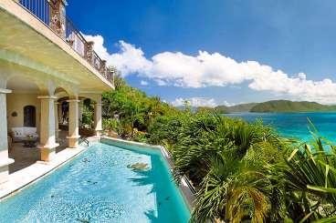 Villa Pool at Villa MAS SEA (Seacove) at North Shore, St. John, Family-Friendly, Pool, 5 Bedroom, 5.5 Bathroom, WiFi, WIMCO Villas