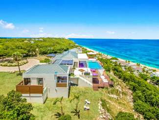 Aerial photo of Villa C AMA (Amandara) at Hillside/Baie Rouge, St. Martin, Family-Friendly, Pool, 5 Bedroom, 6.5 Bathroom, WiFi, WIMCO Villas