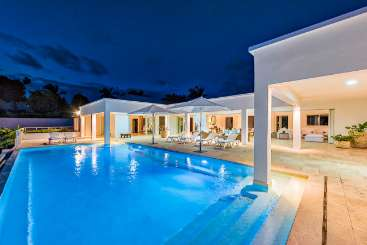 Villa Pool at Villa C BAM (Bamboo) at Hillside/Terres Basses, St. Martin, Family-Friendly, Pool, 2 Bedroom, 2.5 Bathroom, WiFi, WIMCO Villas
