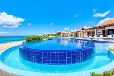 Villa Pool at Villa C CDP (Casa de la Playa) at Beach Side/Baie Longue, St. Martin, Family-Friendly, Pool, 5 Bedroom, 5 Bathroom, WiFi, WIMCO Villas