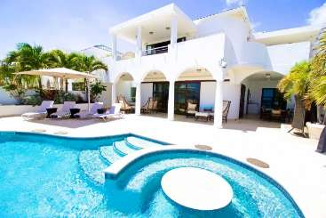 Villa Pool at Villa PIE BAH (Bahari) at Beachfront/Cupecoy, St. Martin, Family-Friendly, Pool, 3 Bedroom, 3 Bathroom, WiFi, WIMCO Villas