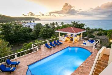 Villa Pool at Villa PIE JDV (Joie De Vivre) at Beach Side/Baie Rouge, St. Martin, Family-Friendly, Pool, 3 Bedroom, 3 Bathroom, WiFi, WIMCO Villas