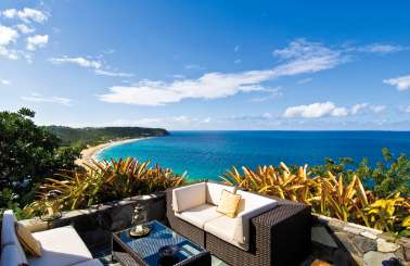 The view from Villa PIE LIB (Libellule) at Beach Side/Baie Rouge, St. Martin, Family-Friendly, Pool, 5 Bedroom, 5.5 Bathroom, WiFi, WIMCO Villas
