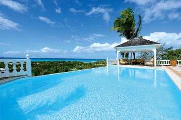 Villa Pool at Villa SXM MFL (Mille Fleurs) at Hillside/Terres Basses, St. Martin, Family-Friendly, Pool, 4 Bedroom, 4.5 Bathroom, WiFi, WIMCO Villas