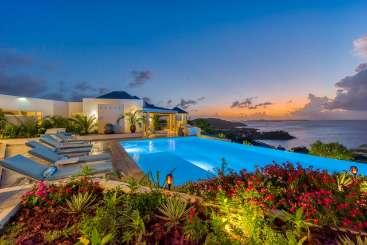 Villa Pool at Villa PIE OC5 (Ocean 5) at Happy Bay, St. Martin, Family-Friendly, Pool, 6 Bedroom, 6 Bathroom, WiFi, WIMCO Villas
