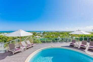 Villa Pool at Villa PIE OCV (Ocean View) at Hillside/Orient, St. Martin, Family-Friendly, Pool, 3 Bedroom, 3.5 Bathroom, WiFi, WIMCO Villas