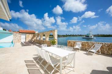 The view from Villa PIE ONE (One) at Simpson Bay Lagoon, St. Martin, Family-Friendly, Pool, 3 Bedroom, 3 Bathroom, WiFi, WIMCO Villas