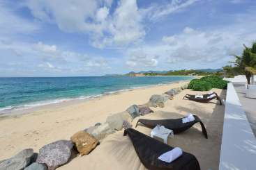 The view from Villa PIE PAL (La Perla Palais) at Beach Side/Baie Rouge, St. Martin, Family-Friendly, Pool, 3 Bedroom, 3.5 Bathroom, WiFi, WIMCO Villas