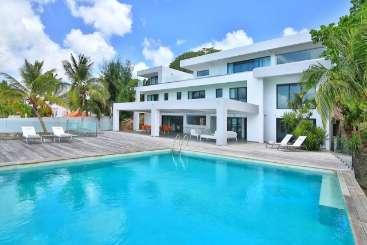 Villa Pool at Villa PIE REE (The Reef) at Simpson Bay Lagoon, St. Martin, Family-Friendly, Pool, 5 Bedroom, 5 Bathroom, WiFi, WIMCO Villas