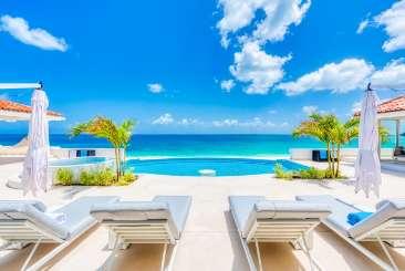 Villa Pool at Villa SXM CAR (Carisa) at Beach Side/Baie Rouge, St. Martin, Family-Friendly, Pool, 2 Bedroom, 2.5 Bathroom, WiFi, WIMCO Villas