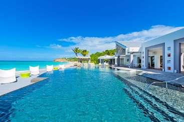 Villa Pool at Villa SXM LRV (Le Reve) at Beach Side/Baie Rouge, St. Martin, Family-Friendly, Pool, 6 Bedroom, 5.5 Bathroom, WiFi, WIMCO Villas