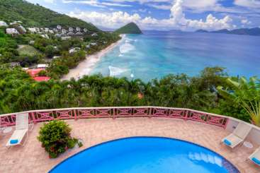 The view from Villa KLG SUN (Sunset House) at West End/Long Bay, Tortola, Family-Friendly, Pool, 5 Bedroom, 5.5 Bathroom, WiFi, WIMCO Villas