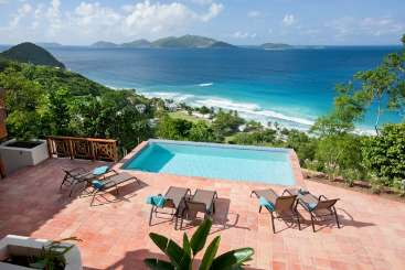 Villa Pool at Villa MAT ALF (Alfresco) at West End/Long Bay, Tortola, Family-Friendly, Pool, 3 Bedroom, 3 Bathroom, WiFi, WIMCO Villas, Available for the Holidays
