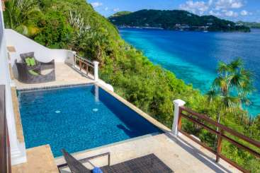 Villa Pool at Villa PRE BLA (Blackbeard's Hideaway) at West End, Tortola, Family-Friendly, Pool, 2 Bedroom, 2 Bathroom, WiFi, WIMCO Villas, Available for the Holidays