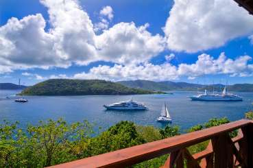 The view from Villa PRE TRE (Treehouse) at Steele Point, Tortola, Family-Friendly, Pool, 2 Bedroom, 2 Bathroom, WiFi, WIMCO Villas, Available for the Holidays