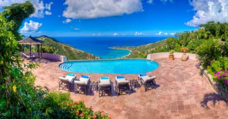 Villa Pool at Villa TOR CAN (Canefield House) at NW/Green Bank, Tortola, Family-Friendly, Pool, 3 Bedroom, 3.5 Bathroom, WiFi, WIMCO Villas