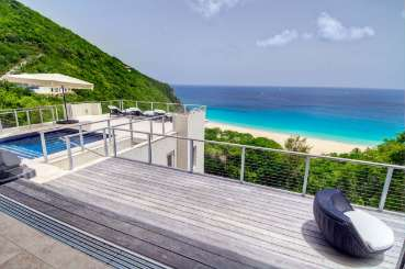 Deck at Villa TOR LUN (Lune) at Trunk Bay, Tortola, Family-Friendly, Pool, 3 Bedroom, 3.5 Bathroom, WiFi, WIMCO Villas