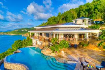 Exterior of Villa TOR MAL (My All) at Trunk Bay, Tortola, Family-Friendly, Pool, 6 Bedroom, 6 Bathroom, WiFi, WIMCO Villas