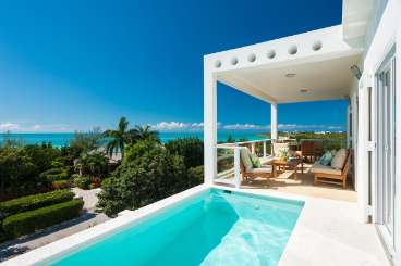 Villa Pool at Villa IE VBL (Blanca) at Ocean Pt/Taylors, Turks & Caicos, Family-Friendly, Pool, 2 Bedroom, 2 Bathroom, WiFi, WIMCO Villas