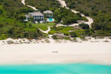 Aerial photo of Villa TC AMG (Amazing Grace) at Grace Bay/Leeward, Turks & Caicos, Family-Friendly, Pool, 5 Bedroom, 5.5 Bathroom, WiFi, WIMCO Villas